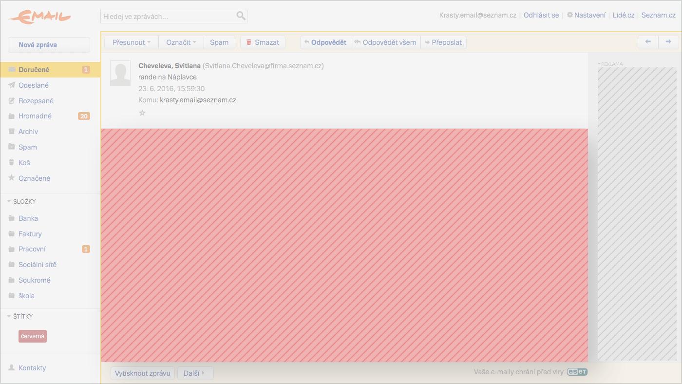 Ukazka direct emailu