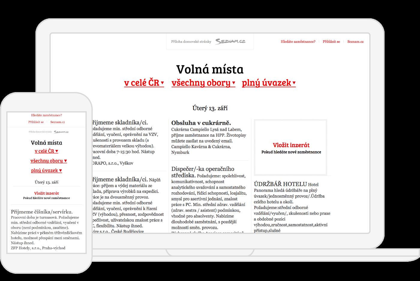Example of Volnamista.cz