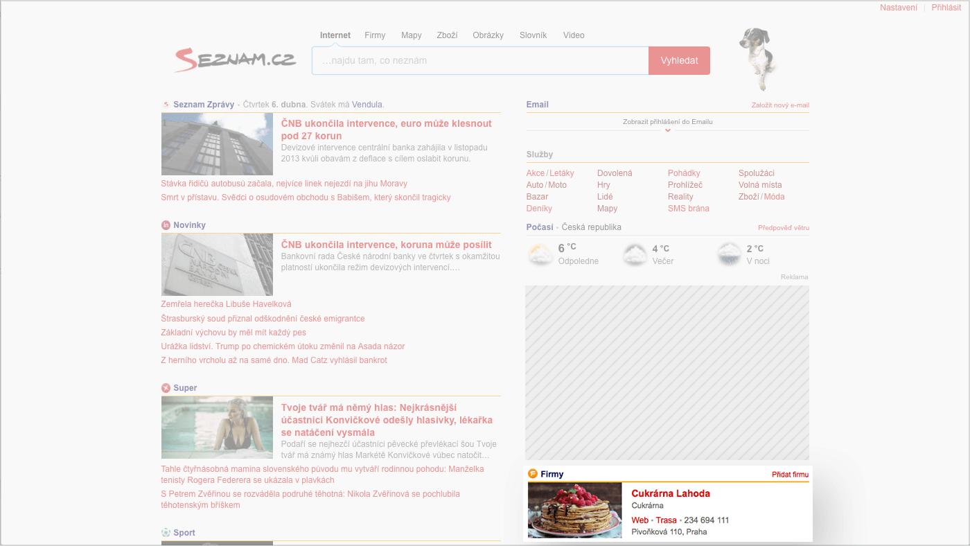 Obrazek: Your company on Seznam.cz's homepage