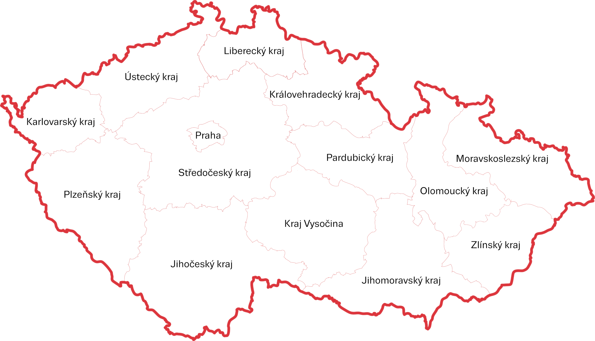 Mapa české republiky rozdělená podle krajů 88a4942f79