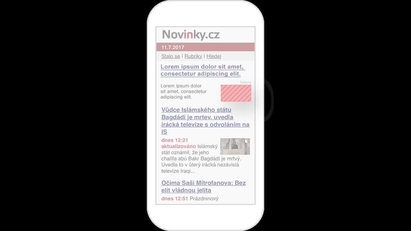 obrazek: Mobilni nativni inzerat