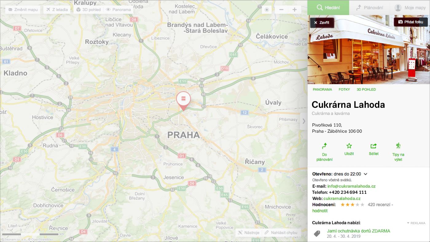 Detail Mapy.cz